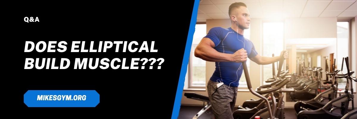 does elliptical build muscle